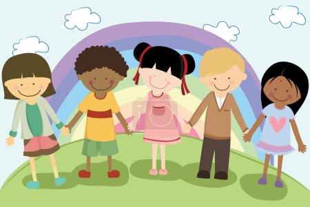 Multi ethnic children