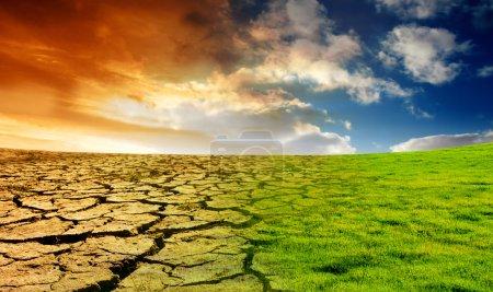 Photo pour Effet du réchauffement climatique - image libre de droit