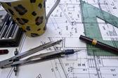 Architektonický plán, technický projekt a konstrukce