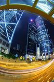 "Постер, картина, фотообои ""Трафик в самом центре города - Жемчужина Востока: Гонконг."""