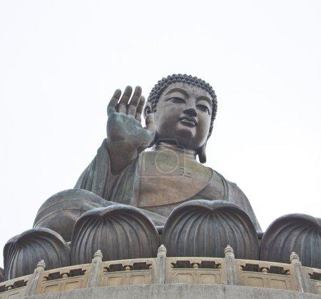 Photo pour Le grand Bouddha de Hong Kong Lantau Island - image libre de droit