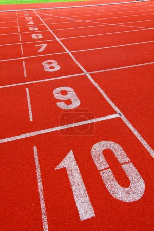 Running track with number 1-10