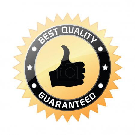 Illustration for Vector illustration of a best quality label, isolated on a white background - Royalty Free Image