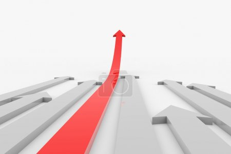 Move ahead red arrow.