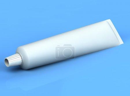 Photo pour 3d rendu dentifrice sur le fond bleu - image libre de droit