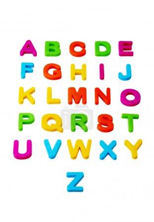 Photo pour L'alphabet isolé sur fond blanc - image libre de droit