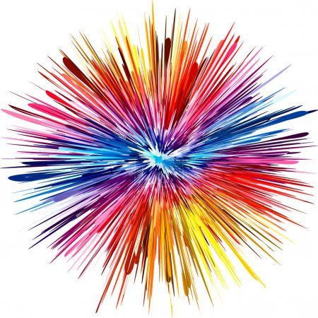 Photo for Abstract color explosion as symbol for creativity and spontaneity - Royalty Free Image
