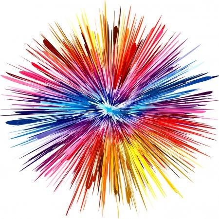 Photo pour Explosion de couleurs abstraites comme symbole de la créativité et la spontanéité - image libre de droit