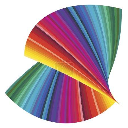 Photo pour Illustration pour montrer le spectre de couleur, l'élément clé pour toutes les entreprises d'impression - image libre de droit