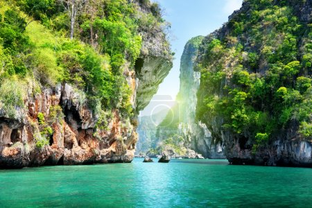 Photo for Rocks and sea in Krabi Thsiland - Royalty Free Image