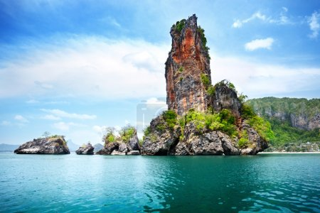 Rocks on Railay beach in Krabi Thailand