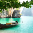 Long boat on island in Thailand...