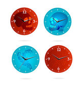 Grunge time sign set isolated