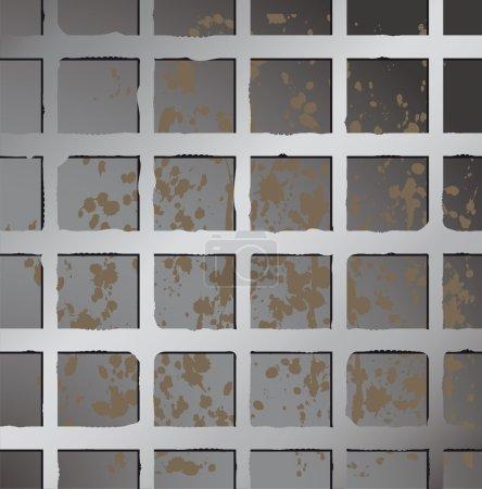 Metallic square fence background.