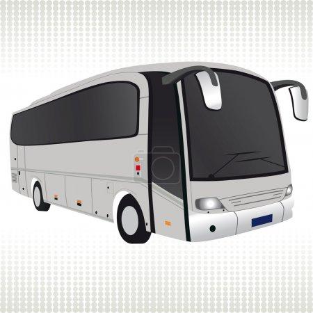 White bus.