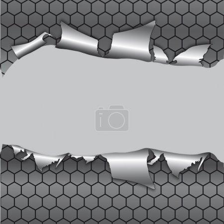 fond métallique à six pans creux sous le trou