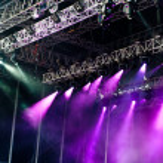 Big concert tage with Purple Spotlights...