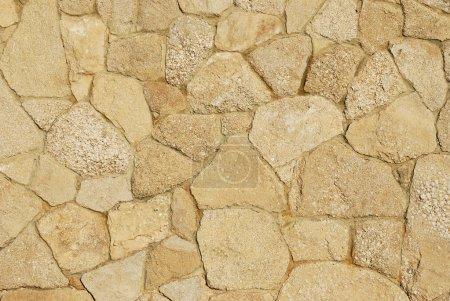 Decorative sidewalk paved with natural sandstone