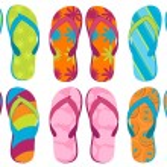 Set of colorful fun Flip flops...