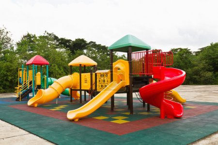 Photo for An image of a colorful children's playground, without children - Royalty Free Image