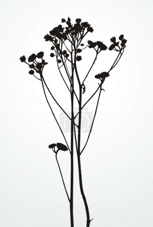 Illustration for Isolated silhouette plants included for easy color changes - Royalty Free Image