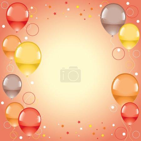 Illustration pour Vecteur ballons colorés festifs - image libre de droit
