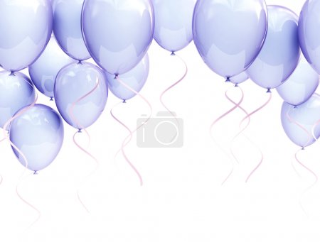 Photo for Blue balloons isolated on white - Royalty Free Image