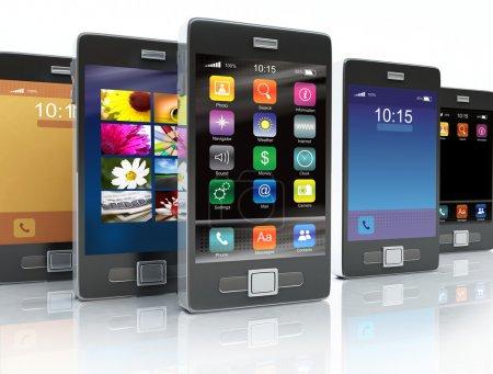 Stock of touchscreen phones