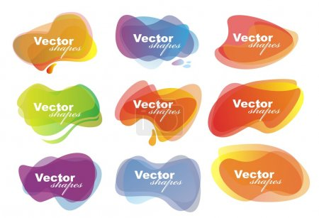 Illustration for Color vector background with shapes - Royalty Free Image