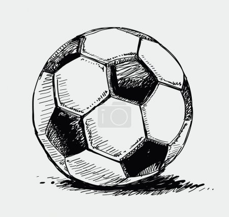 Vector vintage hand drawn of ball...