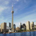 The beatiful Toronto's skyline on a holiday...