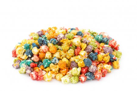 Caramel colorful popcorn