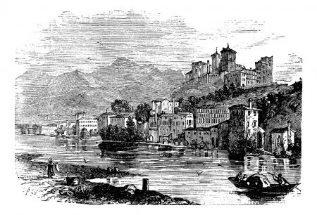Bassano del Grappa, in Veneto, Italy, during the 1890s, vintage
