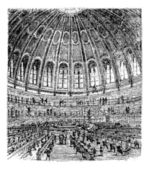 Sketch of the reading room in the British Museum in London Unit