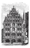 The Gewandhaus of Brunswick or Braunschweig Lower Saxony Germ