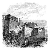 Entrance of the castle Carlisle in Carlisle county of Cumbria