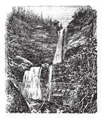 Catskill or Kaaterskill Falls vintage engraving