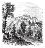 Chiusi in Tuscany Italy vintage engraving