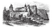 Castle Museum of Dieppe in Normandy France vintage engraving