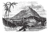 Bioko Island or Fernando Po Island in the Republic of Equatorial Guinea during the 1890s vintage engraving Old engraved illustration of Bioko Island or Ferna