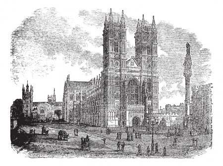 Westminster Abbey or Collegiate Church of St Peter in London En