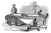 Spinneret machine vintage engraving