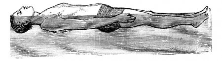Back Float, vintage engraved illustration