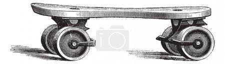 Roller Skate, vintage engraving