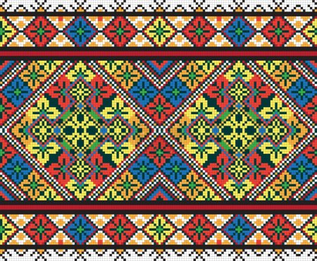 Ukrainian ethnic seamless ornament, #42, vector