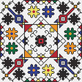 Ukrainian ethnic seamless ornament #59 vector