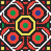 Ukrainian ethnic seamless ornament #62 vector