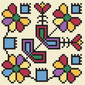 Ukrainian ethnic seamless ornament #67 vector
