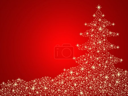 Photo for Christmas tree background with stars - Royalty Free Image