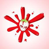 Skull strawberries